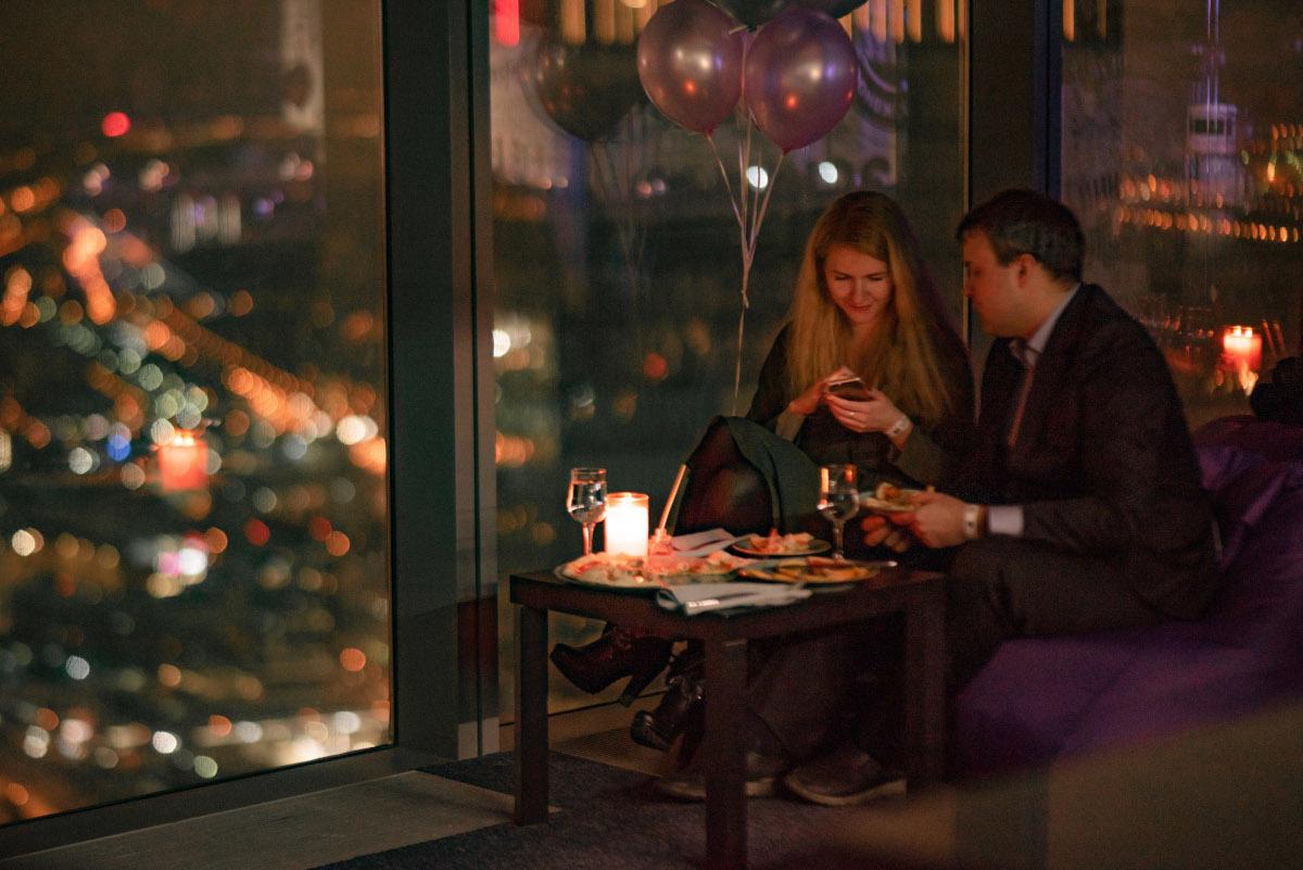 Романтический вечер с девушкой в Москве