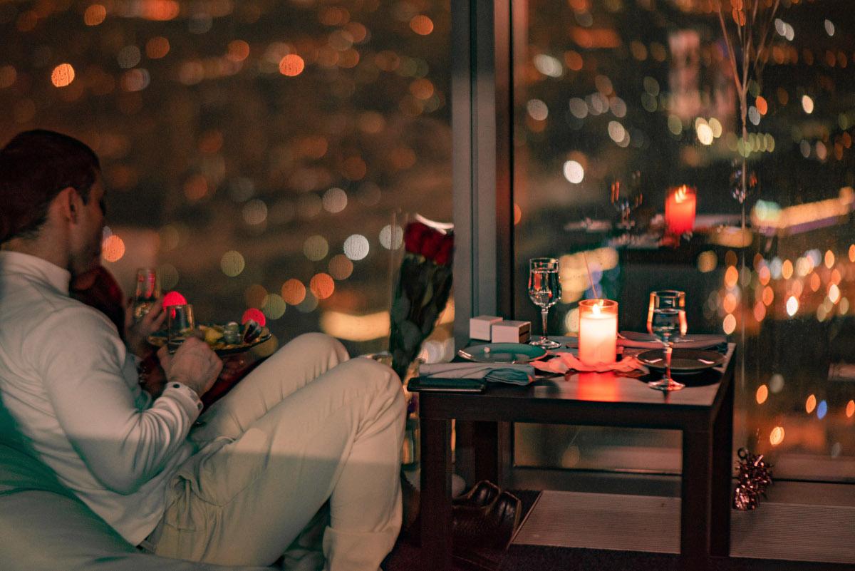 Романтический вечер с девушкой в Москва-Сити