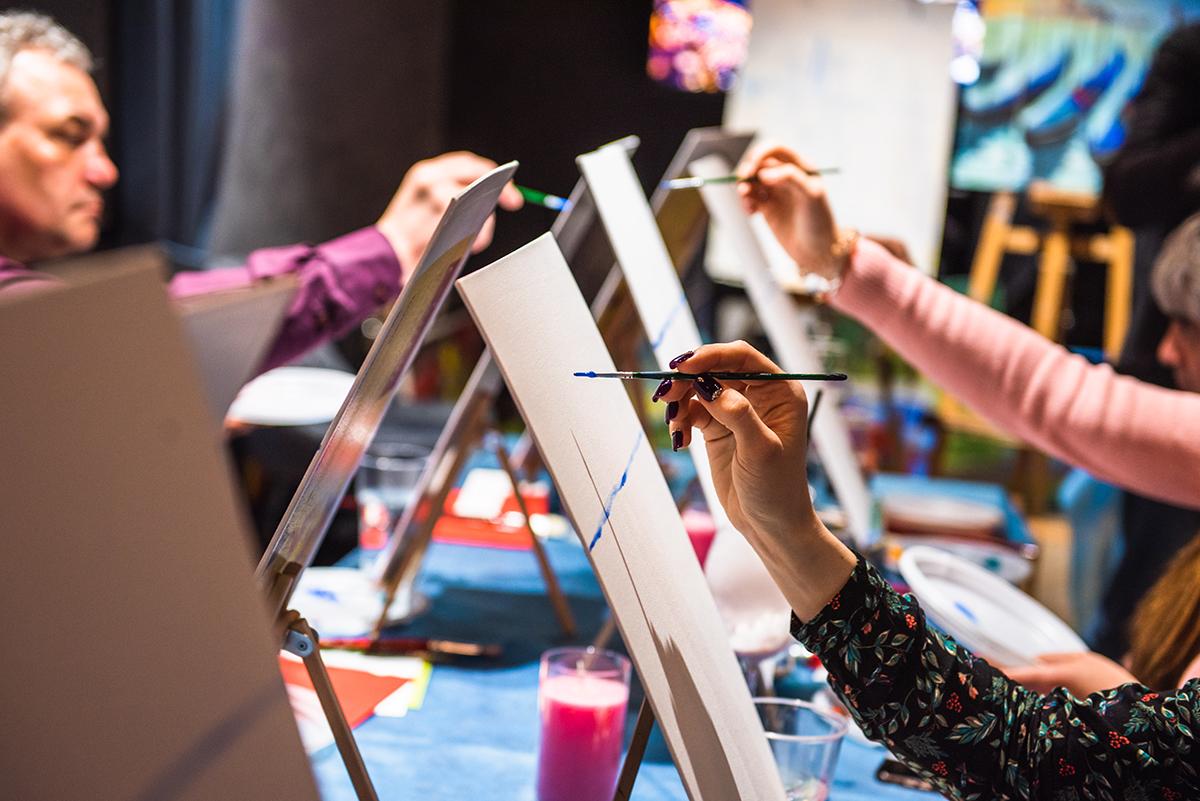 Мастер-класс по живописи на 89 этаже