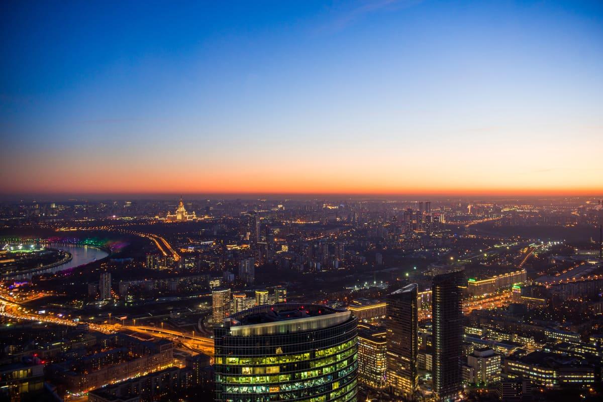 Свидание на закате в Москва-Сити