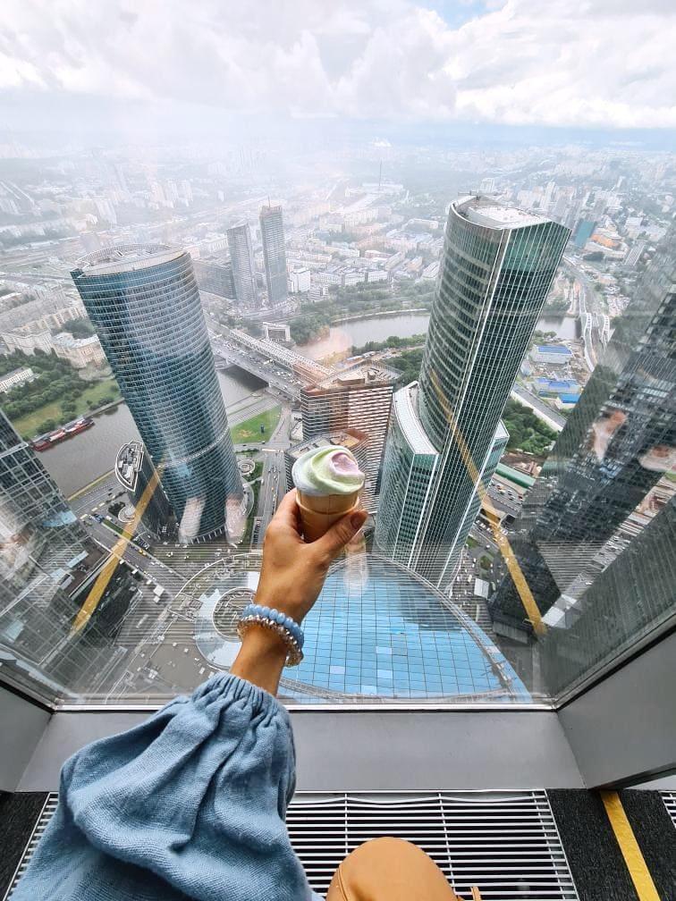 Вид с 89 этажа Башни Федерация в Москва-Сити